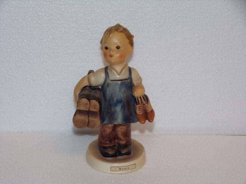 vintage Hummel figurine, #143- TMK-3 Boots, girl in dress carrying boot/shoes-5""