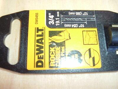 Dewalt Dw5455 Size 34 X 12 X 10 Hammer Masonry Drill Sds Plus New 4tg52