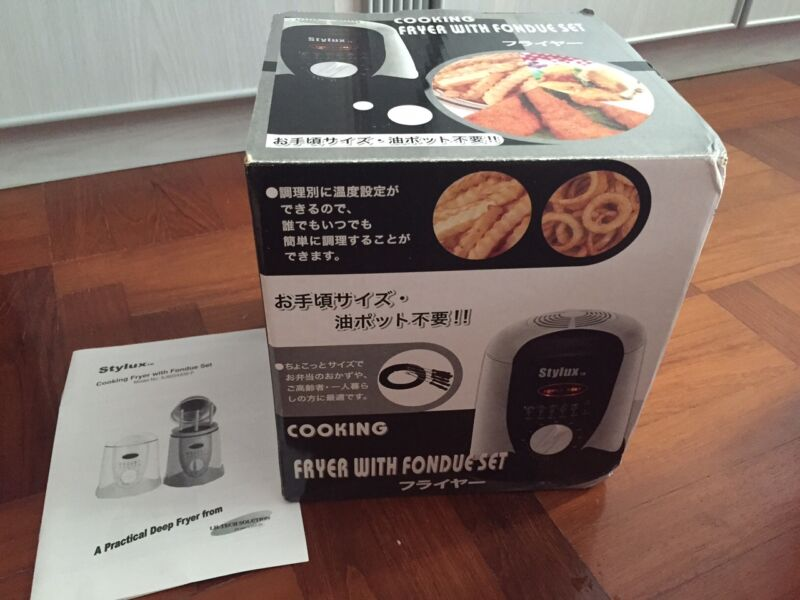 Brand New Stylux Cooking Fryer with Fondue Set for sale at $55