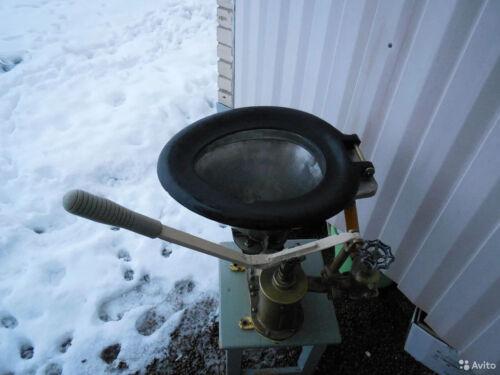Marine toilet with brass pump
