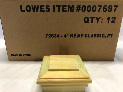 Deckorators 4-in x 4-in Newport Classic Pine Deck Post Cap (Lot of 12) #7687