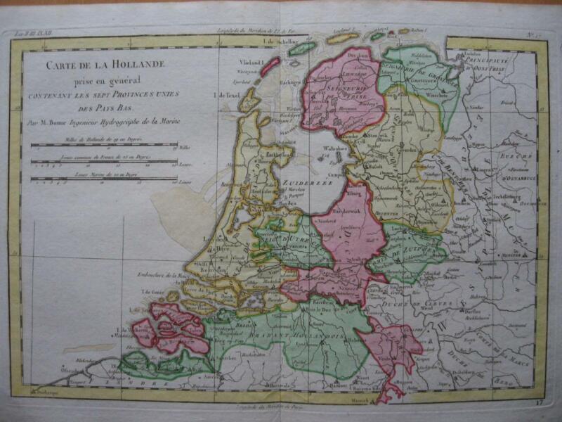 1780 - BONNE - Map NETHERLANDS