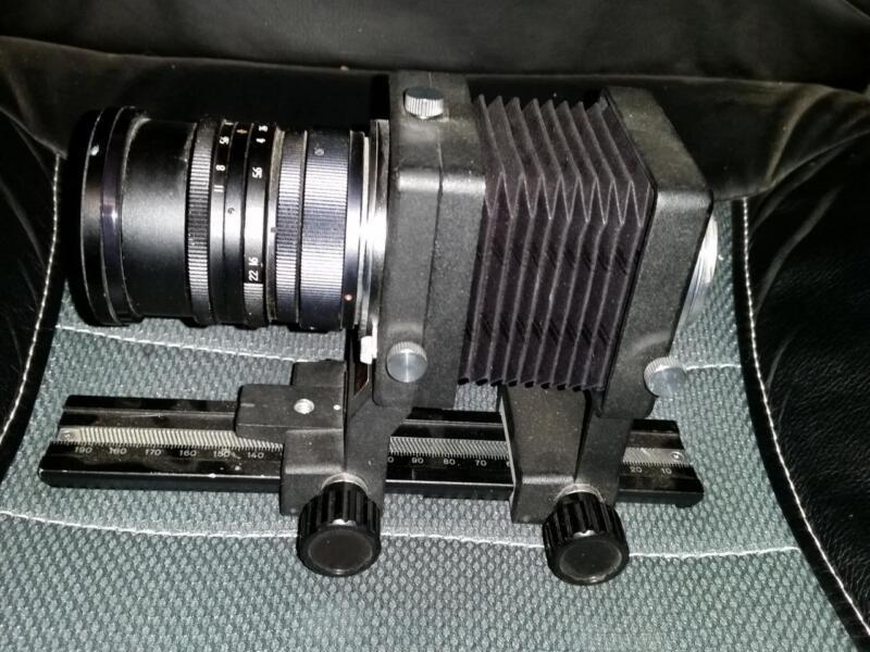 SOLIGOR Multiflex Auto Bellows + Soligor Miranda f=135mm 1:3.5 lens + filter