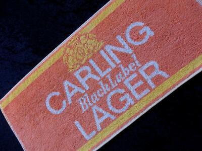 VINTAGE British PUB Carling Larger 1980s Beer Bar Towel RUNNER MAT FREE POST