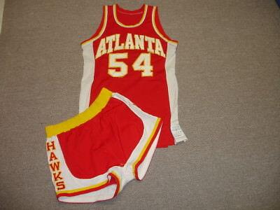 Late 1970 s Tom McMillen Atlanta Hawks Game Used NBA Jersey   Shorts -  54 1f0202bfa