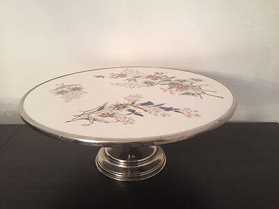 Tortenplatte Kuchenplatte Jugendstil Carl Tielsch 1910 Standfuß Fuß Blumen