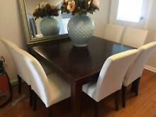 Modern dining table and 8 chairs Chatswood Willoughby Area Preview