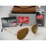"Ray Ban ""Aviator"" Sunglasses RB3025/ 001/ 33 Brown B-15 Lens 58 mm"