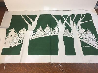 Photo Vintage Mid-Century Marushka Textile Material Fabric Panel 32