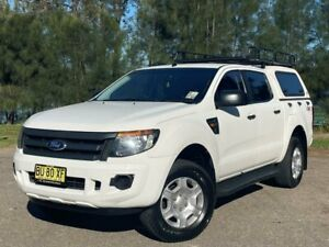 2013 Ford Ranger PX XL 3.2 (4x4) White 6 Speed Automatic Double Cab Pick Up