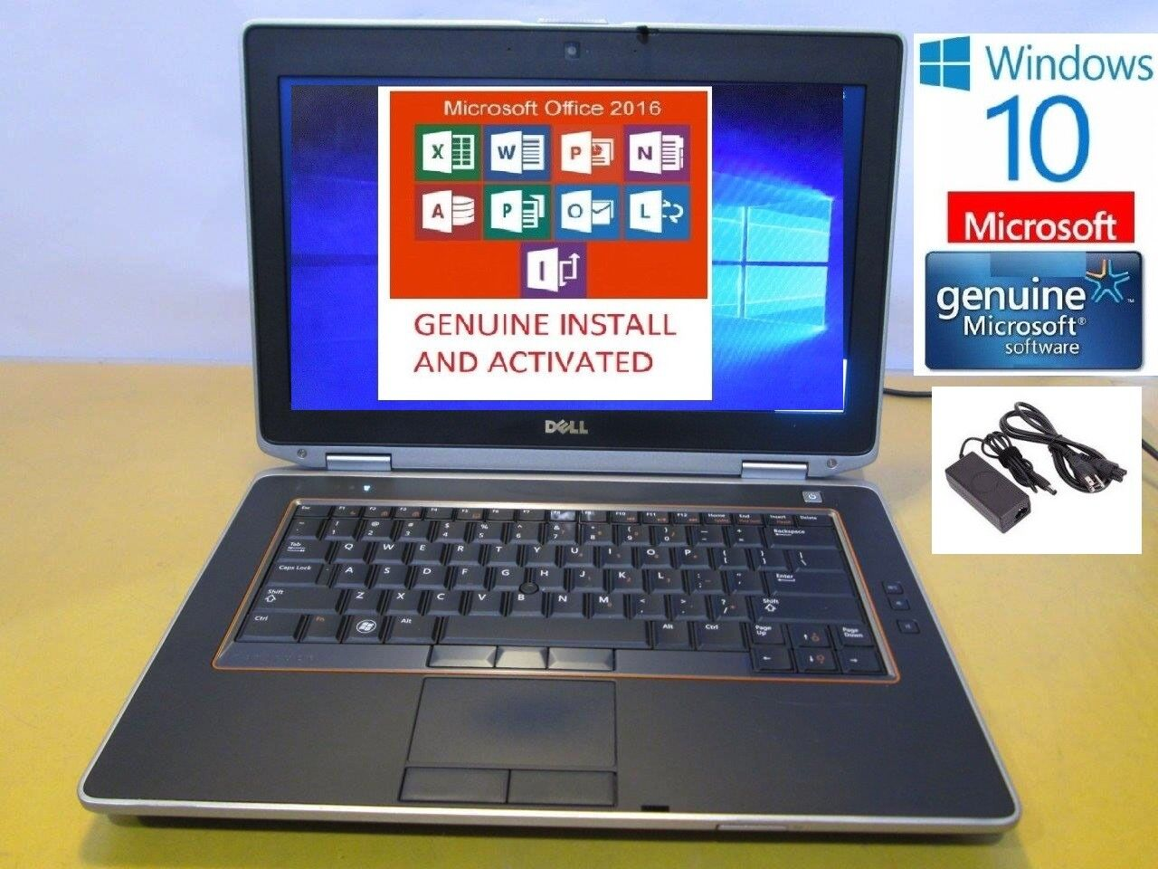 DELL LATITUDE E6320 LAPTOP WINDOWS 10 WIN-INTEL i5 2.5GHz DVD-RW HDMI wifi-,word