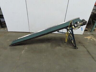 12 X 116 Steep Incline Adjustable Slider Bed Belt Conveyor 24fpm 115230v 1ph