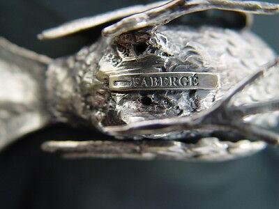 Collectible Faberge'  Silver Bird Figurine