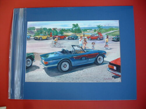 Triumph MGB Triumph TR British sports car original painting