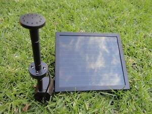 Day/Night Solar Fountain water Pump W/LED Light Battery Timer Athelstone Campbelltown Area Preview