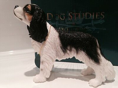 Tri Colour Cavalier King Charles Spaniel Ornament Gift Figure Figurine