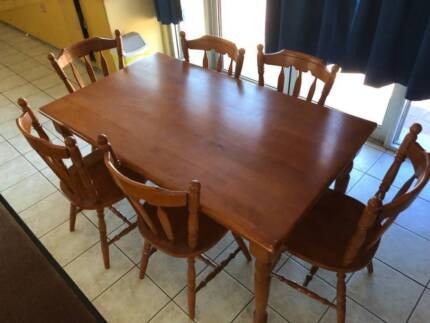 Rustic style, solid wood dining room table | Dining Tables | Gumtree ...