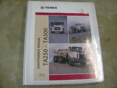 Terex Ta250 Ta300 Haul Truck Maintenance Manual