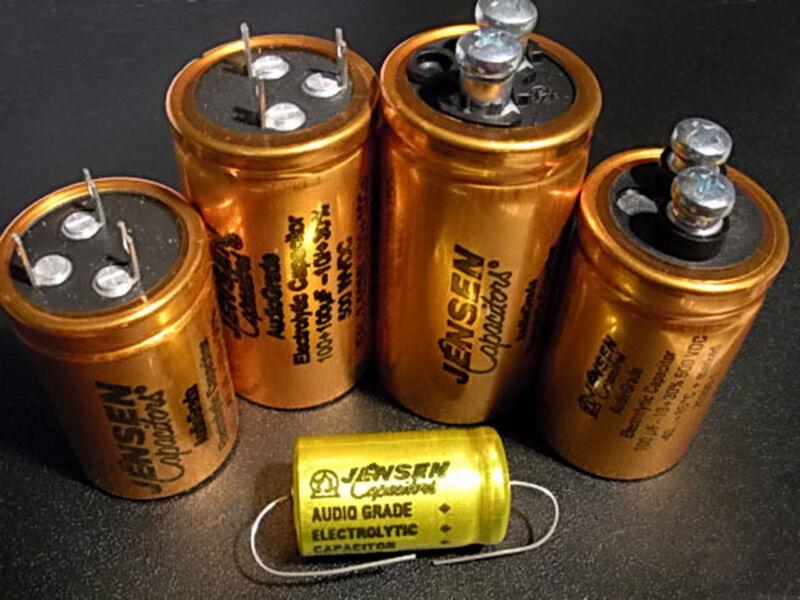 JENSEN 220uF 500V SCREW TERMINALS FOR AUDIO ELECTROLYTIC CAPACITOR