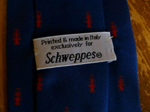 Schweppes Logo 100% Silk Necktie Made in Italy