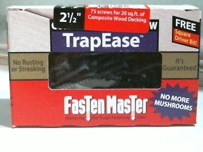 Trapease Screw (Fasten Master 40428 Screw TrapEase 2-1/2 in. Composite Screw Grey)
