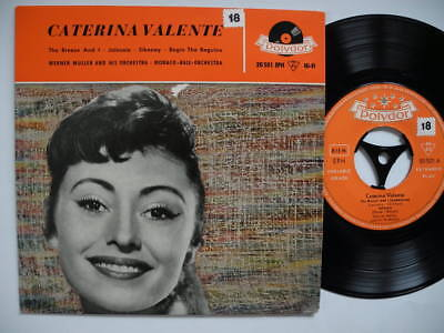 """CATERINA VALENTE The Breeze And I / Jalousie + 2 EP 45 7"""" 1958 Germany EX"""