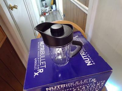 NEW Genuine Nutribullet Rx 30 oz short cup w/ poring lid for sale  Chicopee