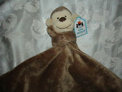 Boys/Girls LITTLE JELLYCAT Monkey Lovey/Blankie Security Blanket NWT