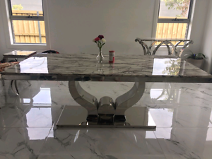 Brand New Marble Dinning table   2meter long Campbelltown Campbelltown Area Preview