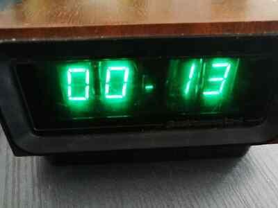 Nixie Tube Clock Elektronika 4 G9.02 Ussr Vintage Ready Wooden Clock In-12