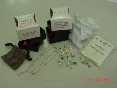 Wholesale Lot of 21 Avon Pieces 2012 Charm Holder Bracelet 9 Charms 11 spacers