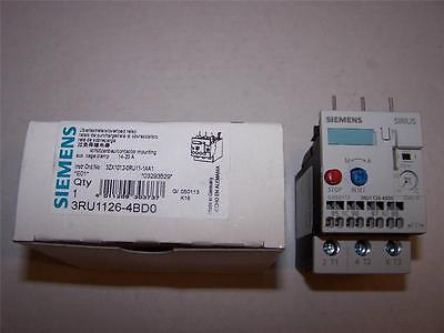 Siemens 3ru1126-4bd0 Overload Relay New In Box