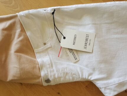 MATERNITY JEANS WEST SIZE 12 EXCEL. CON. WHITE BLACK NAVY