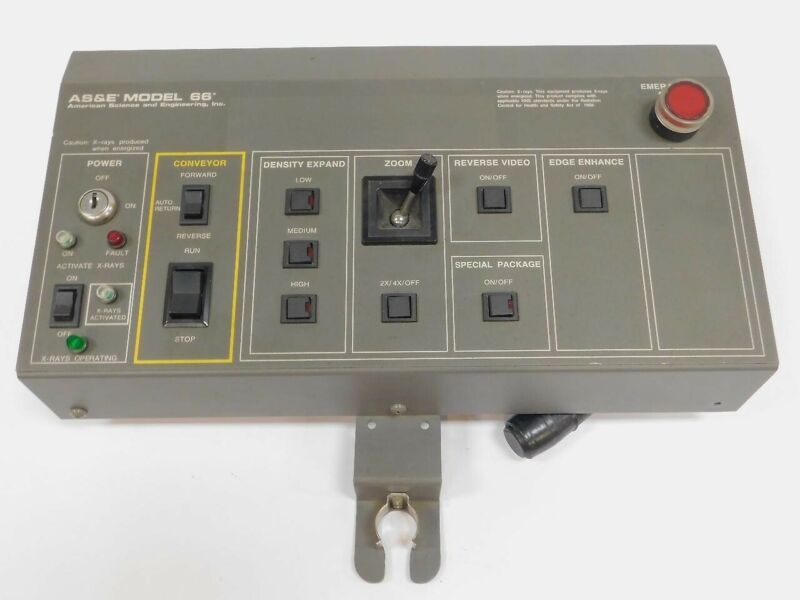 AS&E MODEL 66 X-RAY INSPECTION SYSTEM CONTROLLER 233-0362-1 MACHINE REMOTE ASE