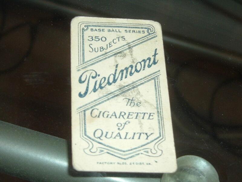 1909 T206 Tobacco Merritt Ghost Back Neat Print Freak!  Piedmont