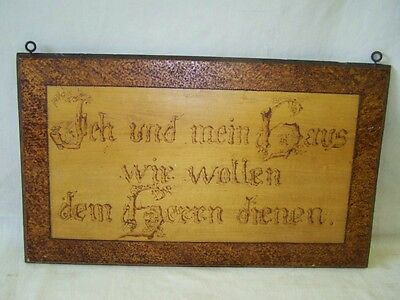 Old Quotation Board, Wooden Sign, Blessing, Door Sign with Saying, Home