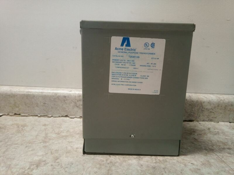 Acme Electric T253013S 240VAC,480VAC In 120V,240V Out Single Phase Transformer