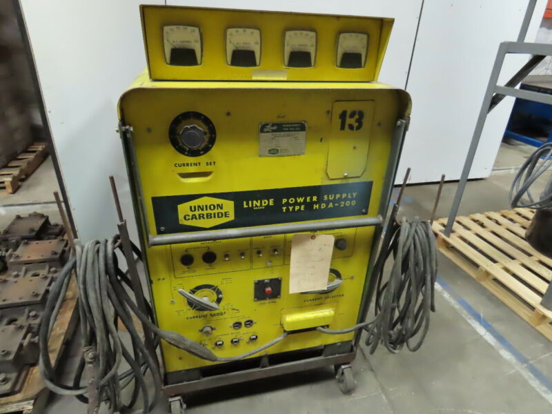 Linde Union Carbide HDA-200 AC/DC Power Supply Stick Arc Welder 200A 1 Phase