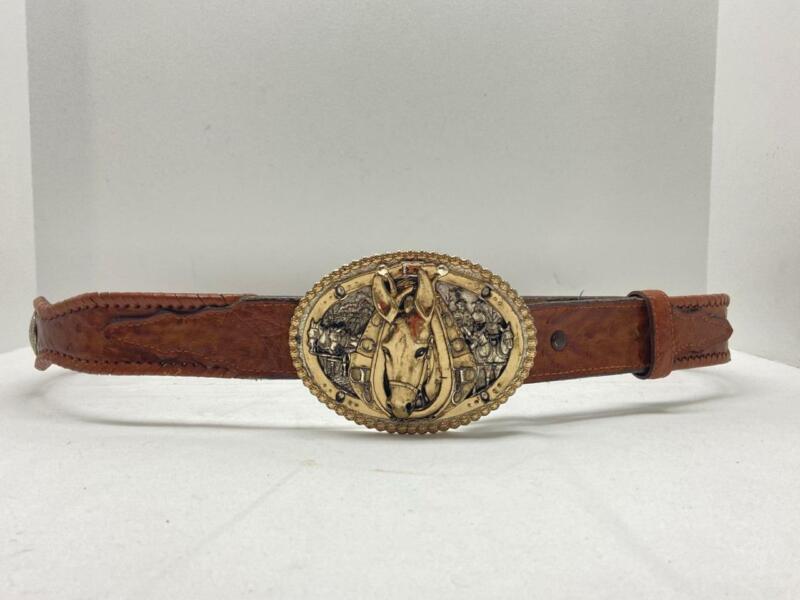Montana Silversmith Belt Buckle with Belt ~ Donkey Burro