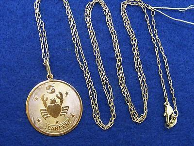 ($28 Nordstrom CANCER Horoscope Sign Zodiac Pendant Necklace Goldtone 36