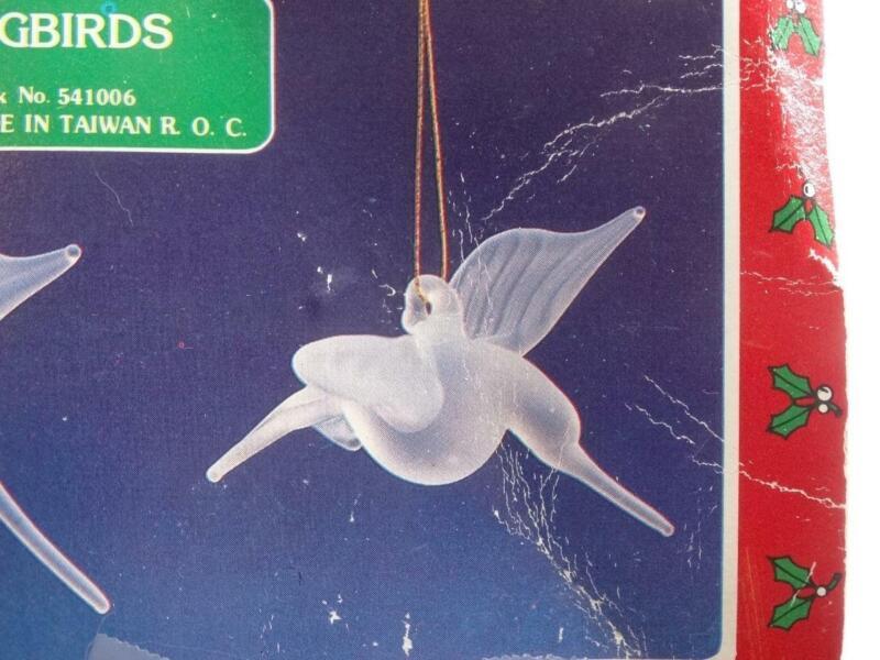 Christmas Around the World Set of 2 Hummingbird Ornaments Glass