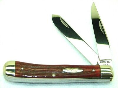 CASE XX USA,1965-69, (5)6254 TRAPPER KNIFE, SUPER PRETTY 2ND CUT STAG, NR MINT