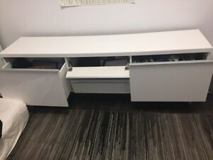White TV stand in good condition!