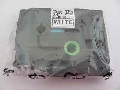Genuine Brother P-touch Tz-231 Tze-231 12mm 12 Label Tape Black Ink 26.2 Ft