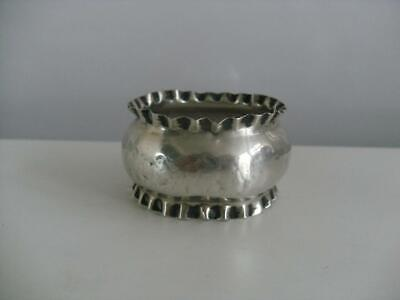 LOVELY SOLID SILVER NAPKIN RING Birmingham 1927