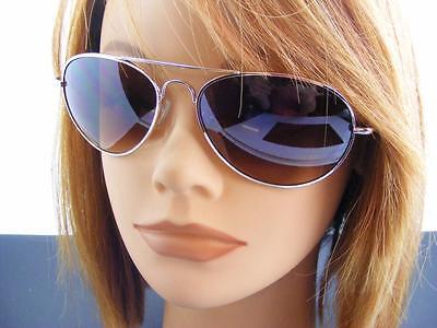 Bp Junior Aviator Sonnenbrille Braun Gläser mit Farbverlauf Rose Goldton Rahmen