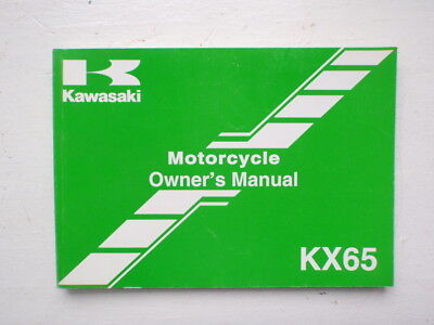 ( 2000 Kawasaki KX65 Dirt Bike Owners Maintenance Manual 99920-1965-02 OEM)