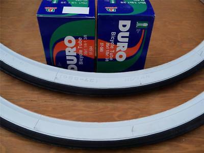 2 Inner Tubes Bicycle NEW** 26 x 1 3//8 Bicycle White Wall Tires + 2