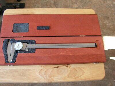 Starrett 120z-12  0-12 Dial Caliper With Wood Case
