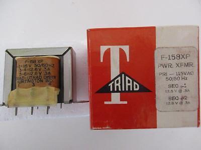 Triad Power Transformer F-158xp Sec 12.6 Or 25.2v Ct .3 .6 Amp Primary 115vac Pc